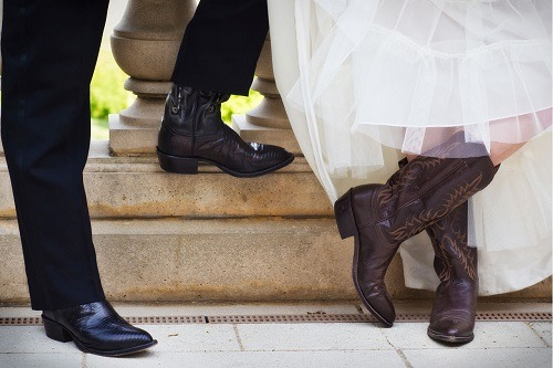 Couple Wearing Cowboy Boots