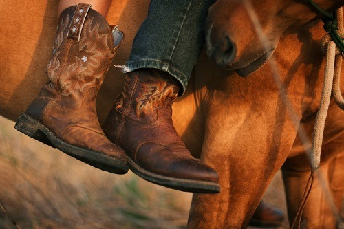 Wearing Riding Cowboy Boots
