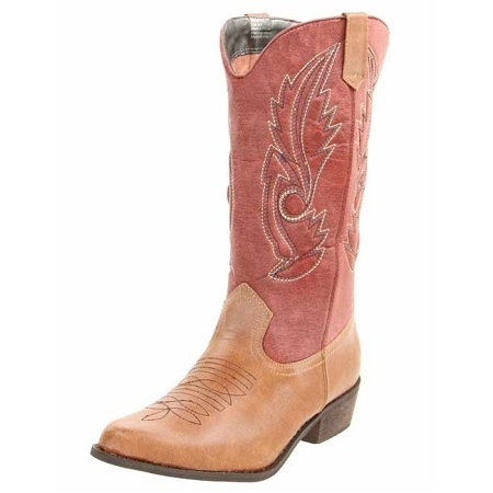 Coconuts By Matisse Women's Gaucho Tan And Red Boots