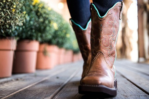 Wearing Women Fashion Cowboy Boots