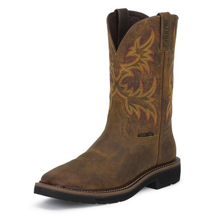 Justin Original Work Boots Mens Stampede Pull-On Square Toe Work Boot Review